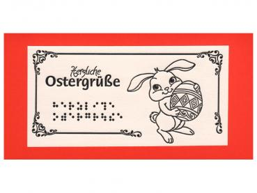 Osterkarte Hase mit Ei